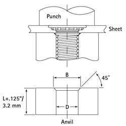 Self Clinch Stud Punch Anvil Diagram 1
