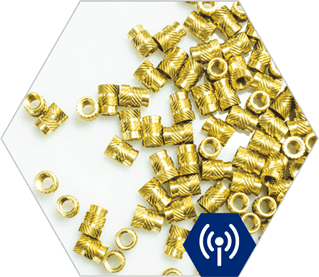Telecoms Brass inserts