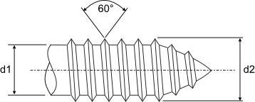 Self Tapping Screw Thread Inch