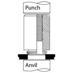 Broaching Standoff Punch and Anvil
