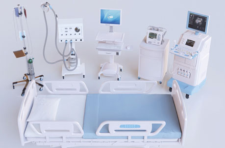 Group image of medical equipment