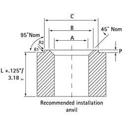 Self Clinch Stud Punch Anvil Diagram 4