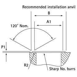 Self-Clinch Nut Anvil Diagram Stainless