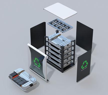 Recyclable battery module